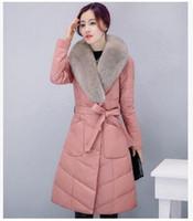 2016 Winter Women Plus Size Genuine leather Coat Fashion Lon...