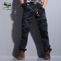 Wholesale- outdoor tactical army military black cargo pants m...