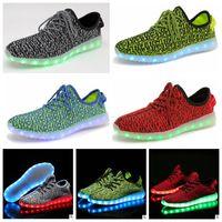 Unisex LED Coconut Shoes Luminous Kanye West Shoes Casual Ru...