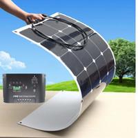 100W flexible solar panel charging for 12V battery sunpower ...