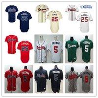 2016 new arrival Atlanta Braves #25 Flowers Baseball Jerseys...