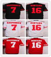 Elite 49ers jerseys cheap rugby Football Jerseys #7 Kaeperni...