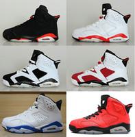 2016 air retro 6 VI man Basketball shoes Olympic Red black G...