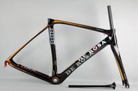 Black Orange De Rosa Super King 888 Carbon Bike Frame 3K Wea...