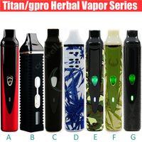 Hotting Dry Herbal Vaporisateur série kits Titan 1 2 I kit de démarrage II herbe sèche vapeur de cire e Cigarettes DHL gratuit