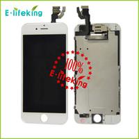 Excellente qualité pour iphone 6 Lcd et pour iPhone 6plus Lcd Digitizer Displaiy Screen Assembly avec bBlack blanc avec caméra bouton d'accueil