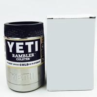 1: 1 12oz 12 унций Yeti с вакуумной изоляцией Rambler Colster Изолированный Чашку Напитки Koozie 304 нержавеющая сталь Чашки