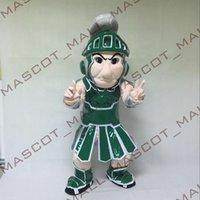 MALL104 Professional Spartan Trojan Knight Cartoon Mascot Co...
