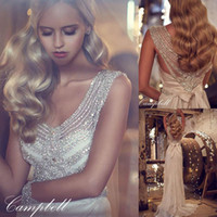 Anna Campbell Crystal Lace Mermaid Wedding Dresses 2016 Vint...