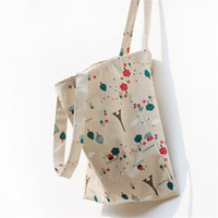 Iron Towers Double Layers Canvas Cotton Shoulder Bag Shoppin...