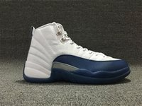 DHL fast Shipping Retro 12 French Blue 12 With Real Carbon F...