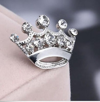 2cm*2. 8cm Hot Selling Silver Tone Clear Crystal Small Crown ...