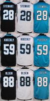 NIK Elite Football Stitched Panthers #28 Jonathan Stewart #5...