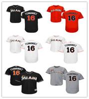 2016 New Style Miami Marlins Jerseys 16 Jose Fernandez Men&#...