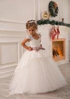 Плеча шнурка орденской мантии шарика Net Baby Girl День рождения принцессы Рождество платья девушки детей платья партии платья девушки цветка