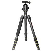 OBO pieghevole portatile in fibra di carbonio allungabile DSLR Camera Tripod Unipod monopiede con testa a sfera per Canon 760D 7D2 70D 5D2 5DS 5DSR D3210