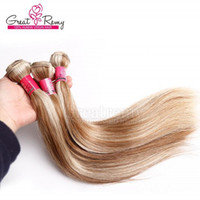 #613- #18 piano hair weave 3pcs silky straight peruvian hair ...
