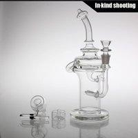 Gordo Scientific Klein Recycler bong en verre de verre 14MM deux fonctions bongs barboteur percolateur bongs tuyaux d'eau bols pour les plateformes pétrolières pipe de bong