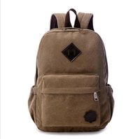 2016 Vintage Men Canvas Backpack Fashion School Bag Casual O...