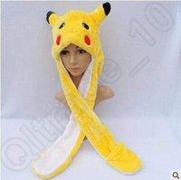 Pikachu dos desenhos animados Animal Plush Faux Fur completa capa Crianças Hat Mulheres Crianças Costume Beanie com luvas cachecol 100pcs Earmuffs CCA5155