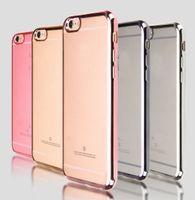 S7 borde suave de la caja de goma casos de teléfono celular de galvanoplastia TPU cubierta de parachoques para Samsung Galaxy S6 S6 S7 S7 Edge Edge A710