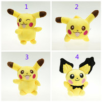6 Inch Poke Pokémon Pikachu Plush dolls toys EMS 15cm 4 styl...