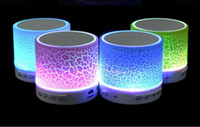 A9 LED Flash Light Pierre Motif Haut-parleurs Bluetooth Subwoofers Mini haut-parleur avec carte flash LED support de lumière TF radio FM