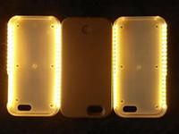 Световая селфи жесткий чехол крышка с светодиодные для iPhone 5 5s 5g 6 6S Plus с розничным пакетом