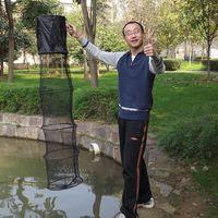 Fisherman Outdoor 1. 5m Folding Fishing Net Stake Hand Net Fi...