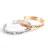 Supernatural Bracelet entreprise familiale Sauver les gens Chasse Choses Ouvertes Coupe du coeur Bracelets gravure Bracelet pour les femmes hommes