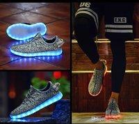2016 quente LED sapatos luz colorida piscando sapatos USB carga unissex fluorescentes casal sapatos festa e esporte sapatos casuais para crianças e adultos