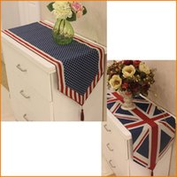 Usa Uk United States American British National Flag Dining Table Runner Cover Home Decor Table Cloth