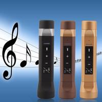 Multifonction 4 en 1 Haut-parleurs Haut-parleurs Lampe de poche Musique Torch Bike Cycling Bluetooth Power Bank Chargeur pour mobile DHL OTH228 gratuit
