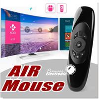 C120 2.4G 6-Axis Mini souris sans fil sans fil avec 3-Gyro 3-Gravity pour PC HTPC IPTV Smart TV et Android TV Box
