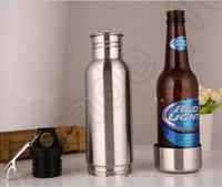 Bouteille de bière Armor Koozie Keeper Bouteille d'armure en acier inoxydable Bouteille Koozie isolateur avec ouvre-bouteille 10pcs OOA611