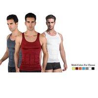 Men' s Tight Slimming Body Shaper Vest Shirt Abs Abdomen...