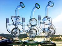 2016 Baker Bong 8inch couleur fumeur Klein Recycler Perc mini-verre bong plate-forme pétrolière tubes d'eau de grands bongs 14mm bol hitman big eau bongs