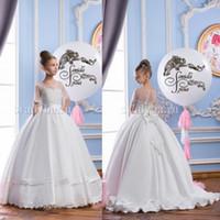 2016 Flower Girl Dresses for Weddings Long Floor Length Shee...