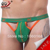 Wholesale- WJ gay men underwear cheap man thongs penis enhanc...