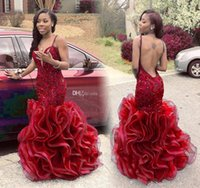 Sexy Burgundy Mermaid Prom Dresses 2016 Sweetheart Spaghetti...
