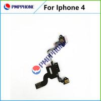 Bonne qualité Proximité puissance capteur de lumière Câble Flex ruban pour Apple iPhone 4 pièces de rechange Livraison gratuite