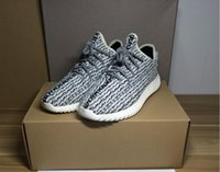 kanye West Boost 350 Pirate Black Breathable Running Shoes K...