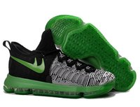 Kevin Durant 9 Men Sneakers Green- balck Basketball Shoes Man...