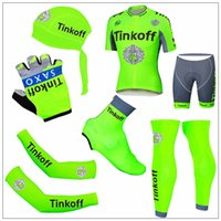 Top Quality Tinkoff Green Fluo 2016 Cyling Jerseys Quick Dry...