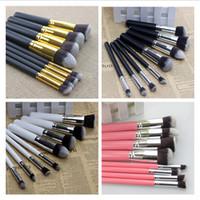10pcs Kabuki Style Professional Makeup Brush Tools Set Make ...