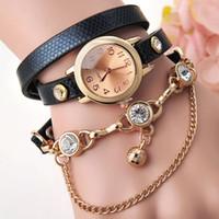 Fashion New Lady Bracelet Watch Retro Multilayer Faux Leathe...