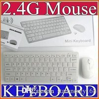 Ensemble de kit de film clavier sans fil 50PCS 2.4G White Keyboard + Mouse Keyboard pour PC PC portable DK-DESKTOP
