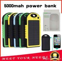 Универсальный 5000mAh Солнечное зарядное устройство Водонепроницаемый панели солнечных батарей Зарядные устройства для смарт-телефона iphone7 таблетки камеры мобильного банка мощность Dual USB