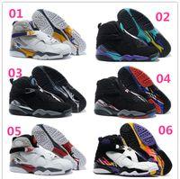 Retro 8 Basketball Shoes For Men 2016 Autumn Winter Sports S...