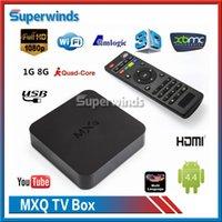 Original KODI MXQ TV Box Amlogic S805 Quad-Core Cortex-A5 Mali-450 Quad-Core H.264 / H.265 KODI Pré-installé MX MXQ Android TV BOX DHL